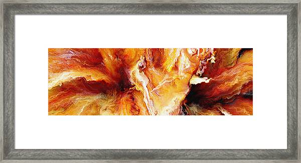 Passion - Abstract Art Framed Print