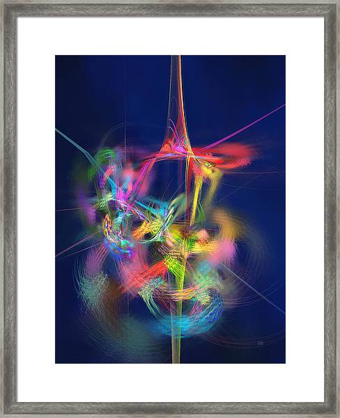 Passion Nectar - Circling The Flower Of Paradise Framed Print