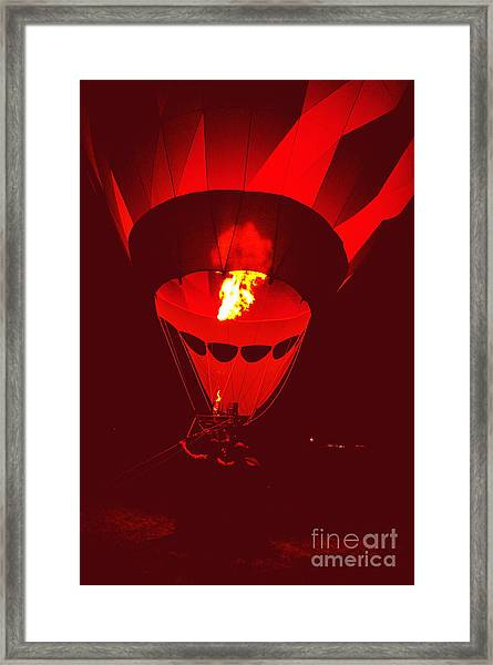 Passion's Flame Framed Print