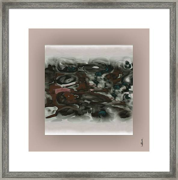 Framed Print featuring the digital art Pastel 13 by Mihaela Stancu
