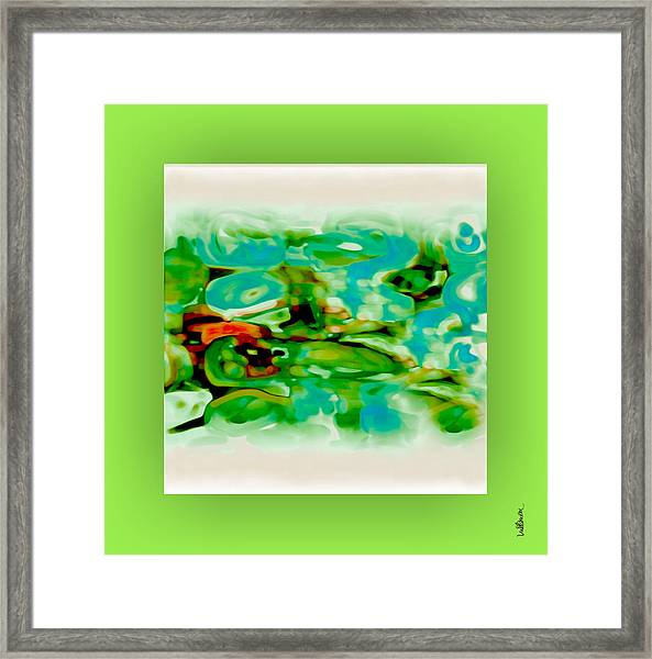 Framed Print featuring the digital art Pastel 18 by Mihaela Stancu