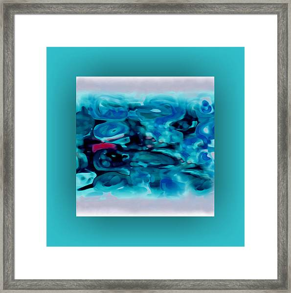 Framed Print featuring the digital art Pastel 20 by Mihaela Stancu