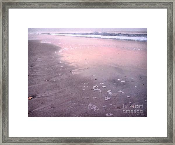 Pastel Beach Framed Print