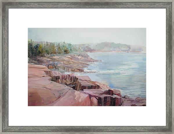 Pastel Cove Framed Print