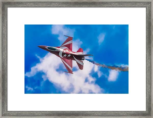 Pastel F-16 Framed Print