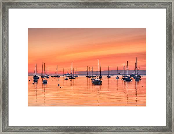 Pastel Harbor Framed Print
