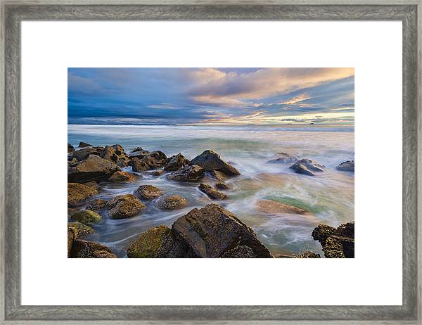 Pastel Sea Framed Print