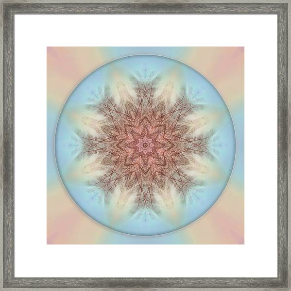 Framed Print featuring the photograph Pastel Sky Mandala by Beth Sawickie