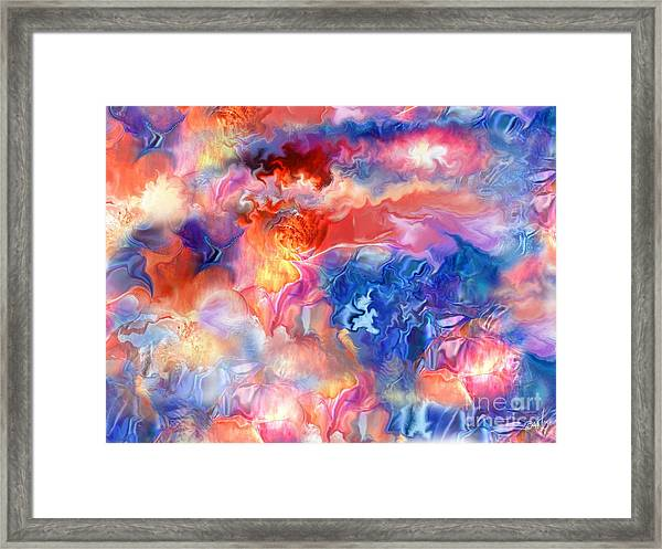 Pastel Storm By Spano  Framed Print