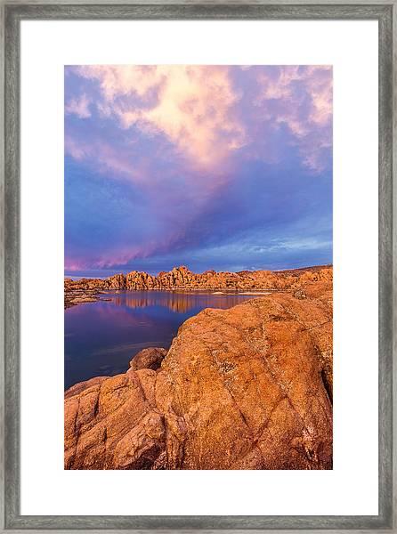 Pastel Storm Framed Print