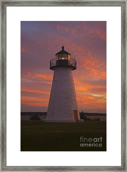 Pastel Sunset At Ned'spoint Framed Print