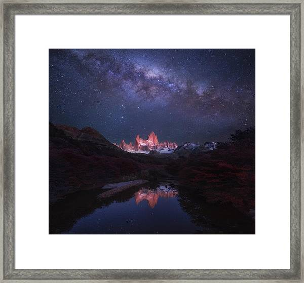 Patagonia Autumn Night Framed Print by Yan Zhang