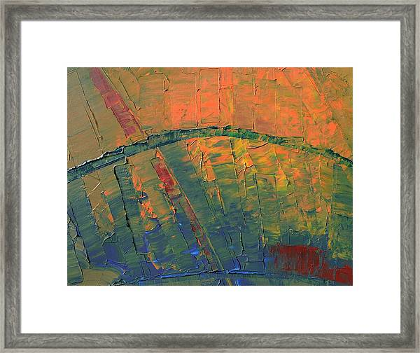 Patches Of Red Framed Print