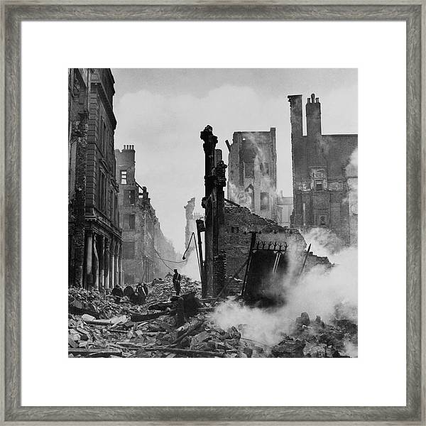 Paternoster Row After Bombing Framed Print