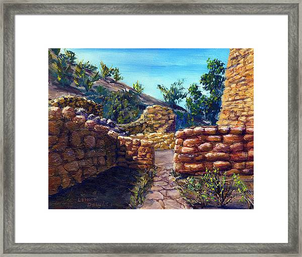 Path At Old Mission Framed Print