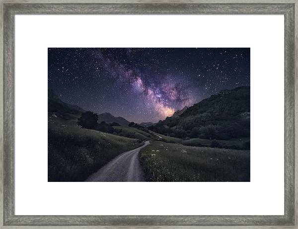 Path To The Stars Framed Print by Carlos F. Turienzo