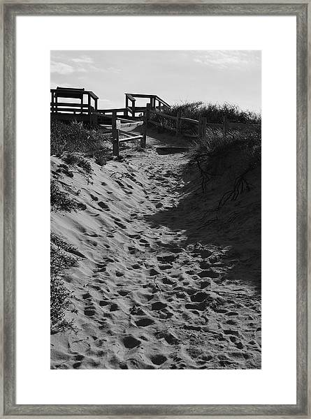 Pathway Through The Dunes Framed Print