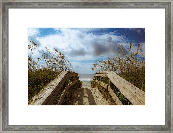 Framed Print featuring the photograph Pathway To Paradise by Francis Trudeau