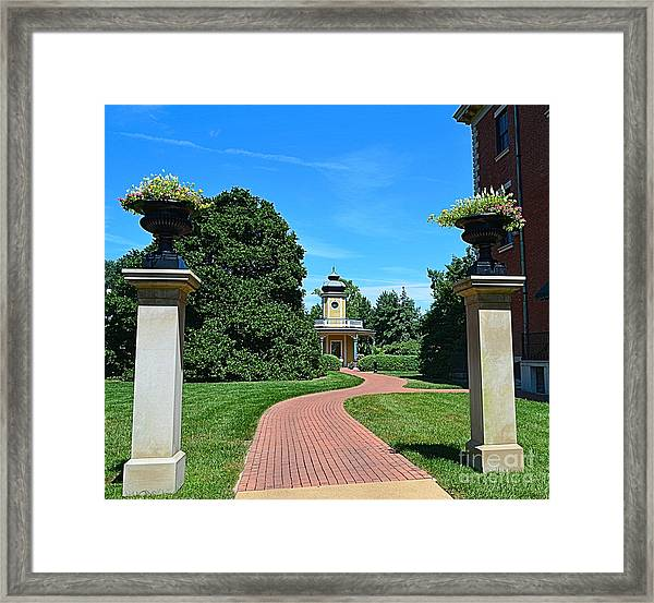 Pathway To The Observatory Framed Print