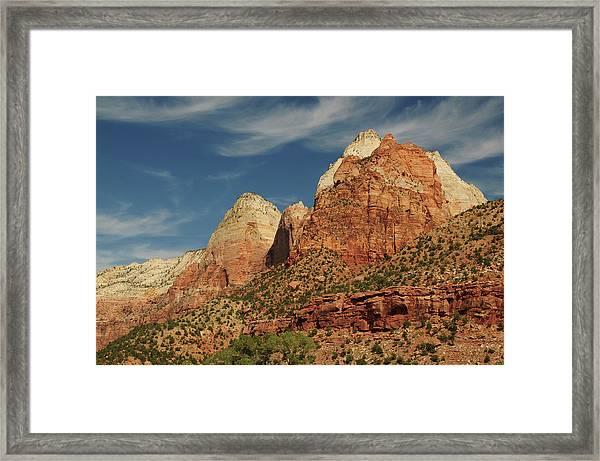 Patriarchs, Zion National Park, Utah Framed Print