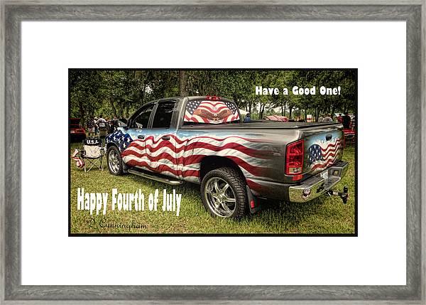 Patriotic Truck Framed Print