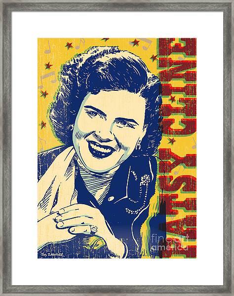 Patsy Cline Pop Art Framed Print