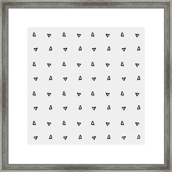 Pattern Minimalist Background Triangle Framed Print by Kbibibi