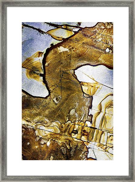 Patterns In Stone - 153 Framed Print