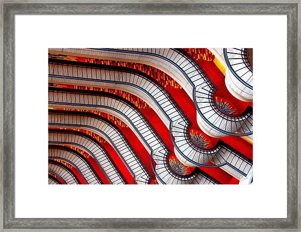 Patterns In Red Framed Print