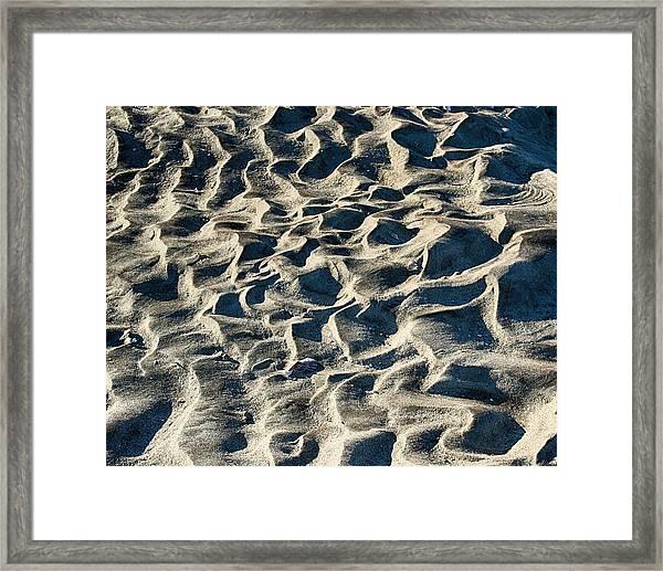 Patterns In Sand 1 Framed Print