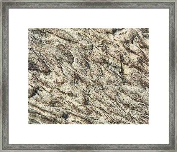 Patterns In Sand 2 Framed Print