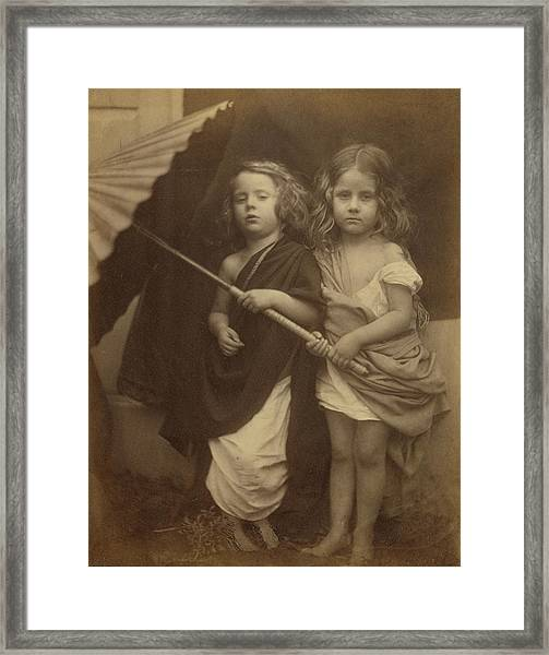 Paul And Virginia Julia Margaret Cameron Framed Print