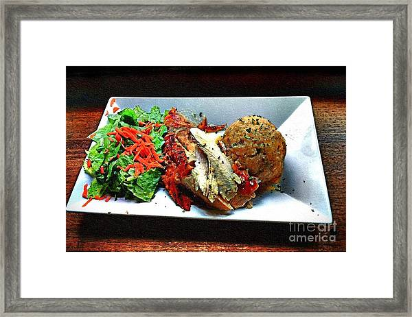 Pavochon Y Mofongo Framed Print