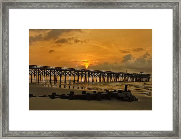 Pawleys Island Sunrise Framed Print