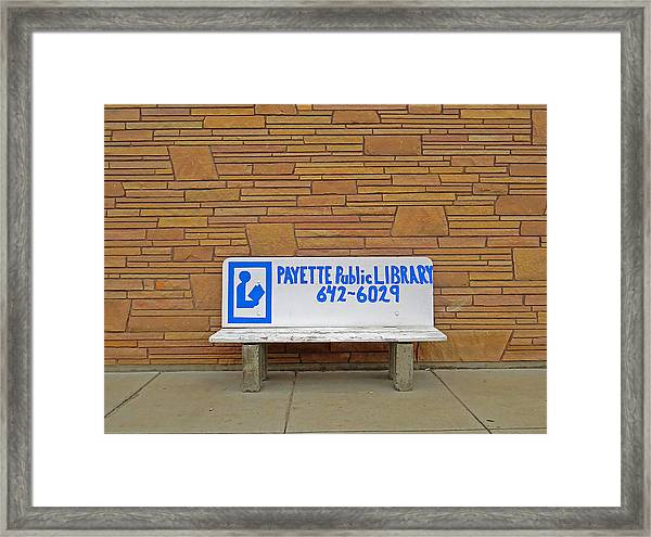 Payette Library Bench Framed Print