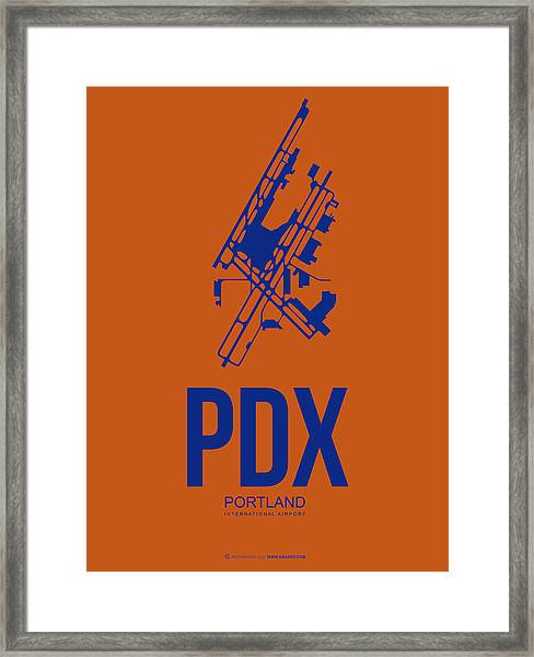 Pdx Portland Airport Poster 1 Framed Print