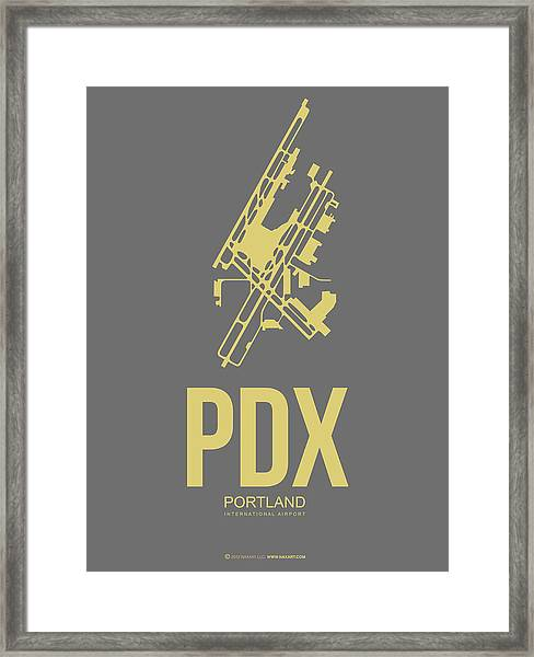 Pdx Portland Airport Poster 2 Framed Print