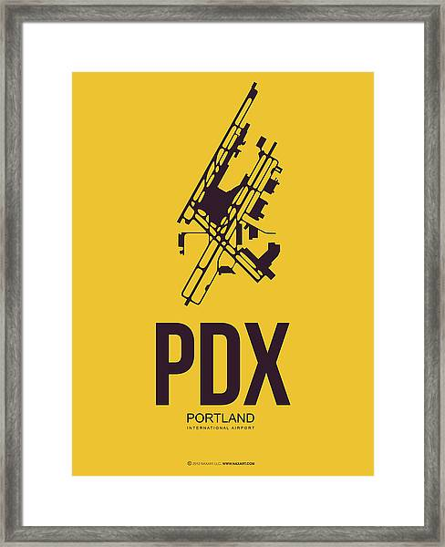 Pdx Portland Airport Poster 3 Framed Print