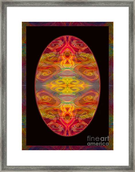 Peace And Harmony Abstract Healing Art Framed Print
