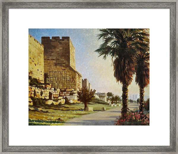 Peace Be Within You  Jerusalem Framed Print