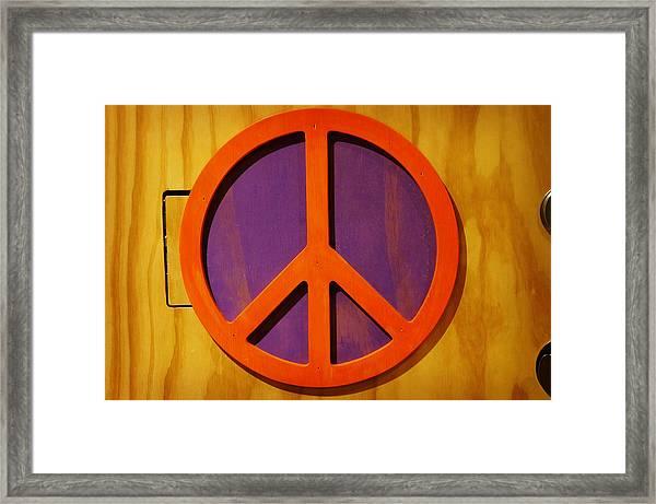 Peace Decal Framed Print