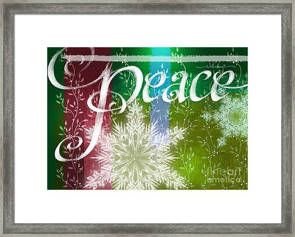 Peace Greeting Framed Print
