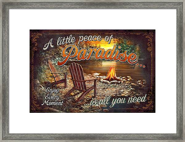 Peace Of Paradise Framed Print
