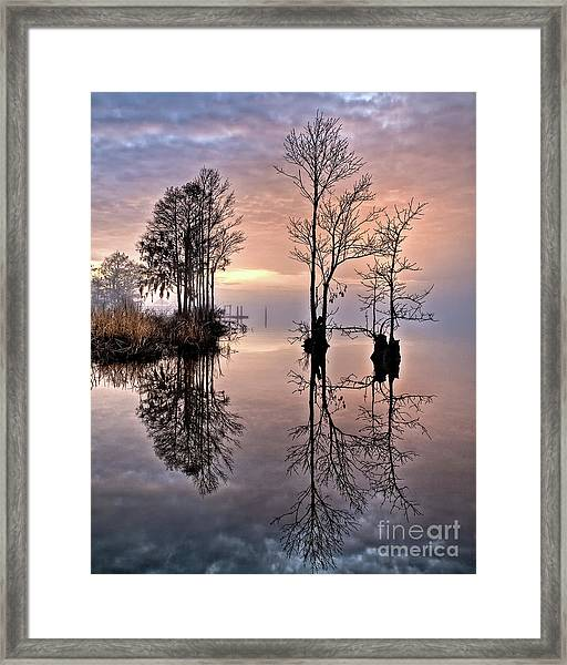 Peace On The River Framed Print