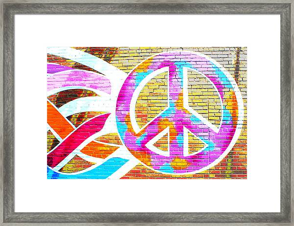 Peace Out Framed Print