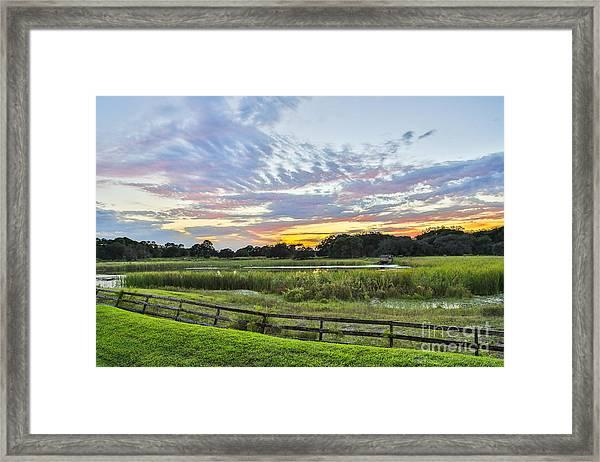 Peace Sunset Framed Print by Mina Isaac