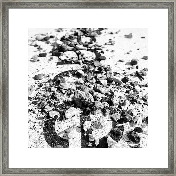 Peace Under The Rubble Framed Print