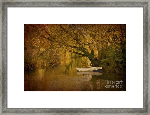 Peaceful Backwater Framed Print