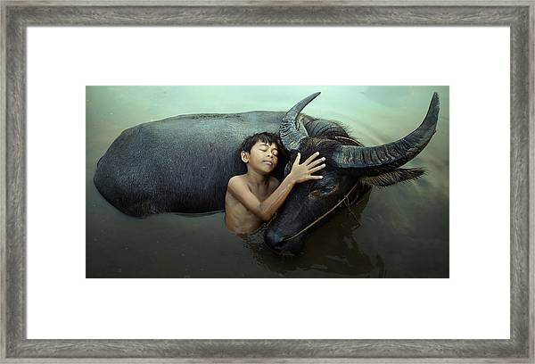 Peaceful Framed Print by Fahmi Bhs