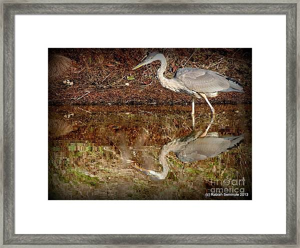 Peaceful Hunter Framed Print